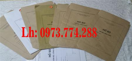 Bán bì đựng hồ sơ cán bộ viên chức ( B01, B02, B03, B04,B05)