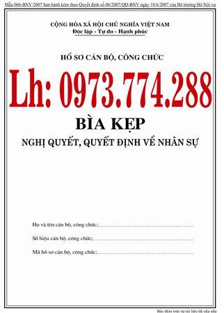 Bìa kẹp nghị quyết, quyết định về nhân sự bán tại Hà Nội