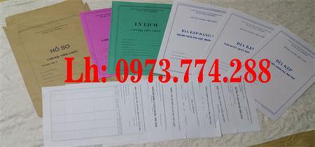 Hồ sơ cán bộ viên chức (giá bán 30.000/1 bộ)