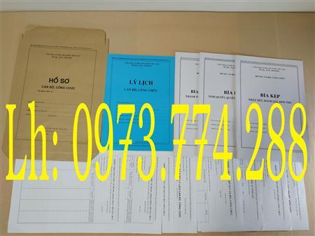 bán Bộ hồ sơ cán bộ công chức giá bán đảm bảo mẫu mới nhất