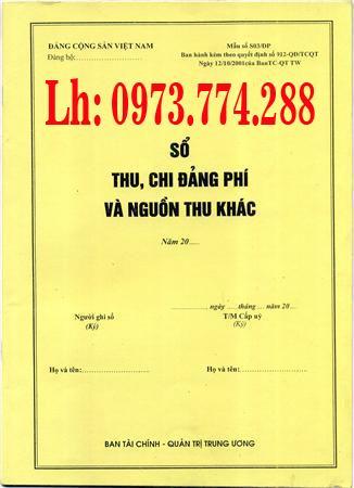 Quyển sổ thu chi đảng phí và nguồn thu khác giá bán Hà Nội