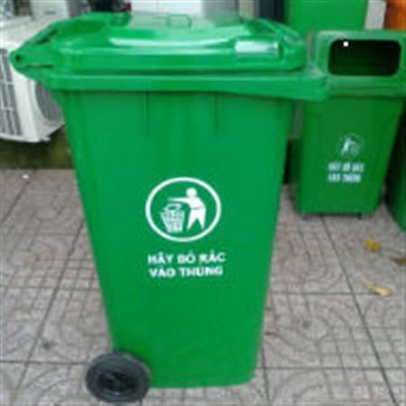 thùng rác 120L giá 500 ngàn  LH cty phước đạt 02822155425