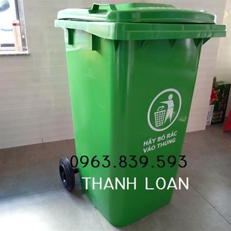 Thùng rác nhựa 120L có bánh xe / thùng rác môi trường rẻ