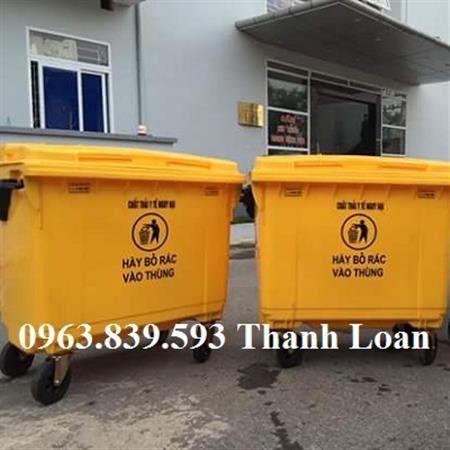 Thùng rác 660L giá rẻ - Giá thùng rác 660 lít nhựa HDPE