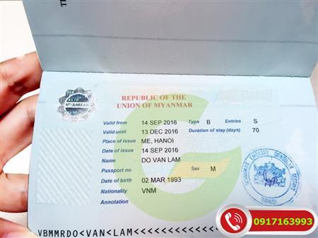 Visa đi Myanmar Du Lịch - Công Tác - Hành Hương