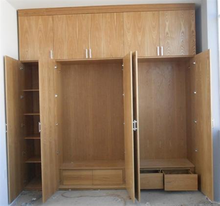 Nhận đóng Tủ quần áo, tủ âm tường theo yêu cầu