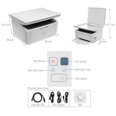 Máy in đa năng đen trắng HP Pro M28w - chauapc.com.vn