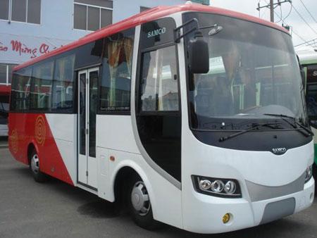 Xe 35 chỗ Aero Town; Isuzu Samco  cho thuê tại tphcm