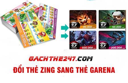 Hướng dẫn cách đổi thẻ Zing sang thẻ Garena một cách đơn giả