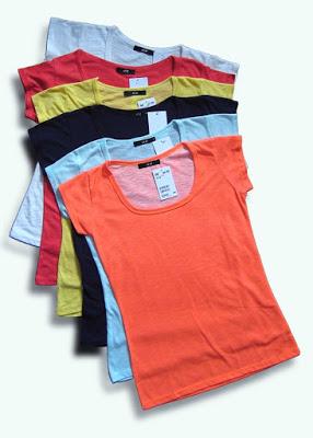 Bán sỉ áo phông nữ cotton 100% giá cực rẻ chỉ từ 16k