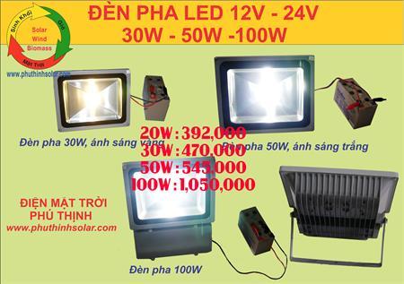 Đèn pha LED Năng lượng Mặt Trời 12v - 24v