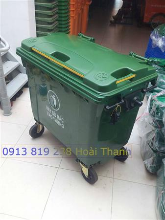 Cung cấp xe đẩy rác đô thị 660 lit - xe thu gom rác