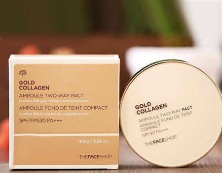 Chuyên sỉ Phấn phủ Gold Collagen The Face Shop chỉ 295k