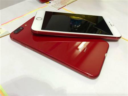 ★IP6S Plus-128G★[Lock fix full như QTế]-Lên Vỏ iP8Plus-Đỏ.