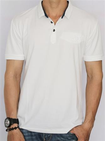 Áo thun nam cotton cổ bẻ logo CK (Nhiều màu)