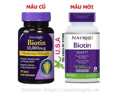 Thuốc Biotin 10,000 mcg Mọc Nhanh & Chống Rụng Tóc của Mỹ