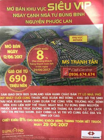 HOT !!!CK 8% Sunland Chào Bán Block Mới KĐT Hòa Xuân Mở Rộng