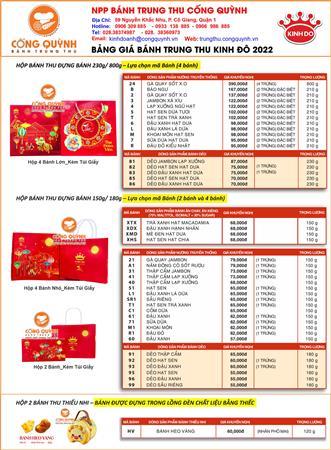 Nhà phân phối bánh trung thu Kinh Đô uý tín, chiết khấu cao