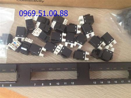 Patch panel 48 port Cat6 AMP Commscope,hang chinh hang