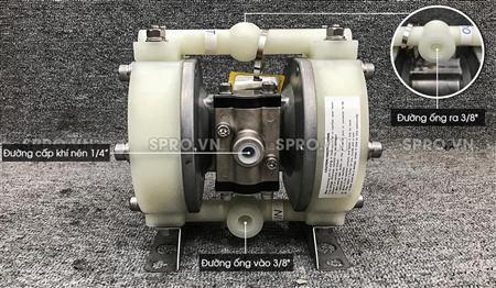 Máy bơm màng khí nén yamada DP-10BPT lưu lượng 20l/p