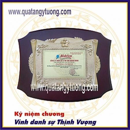 Sản xuất kỷ niệm chương gỗ đồng cao cấp