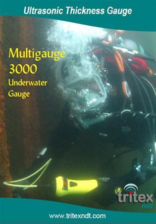 Máy đo chiều dày thép, nhựa kim loại dưới nước model Multiga