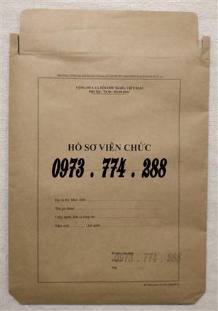 Bì hồ sơ viên chức giá rẻ tại Hà Nội