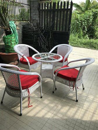 Bàn ghế cafe giá rẻ VĐ01
