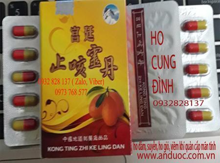 Thuốc cung đình trị ho hen, suyễn, viêm khí quản Hongkong