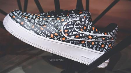Giày Nike Air Force 1 Low Just Do It Black
