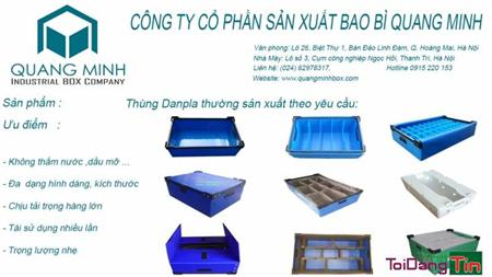 Nơi bán và chuyên sản xuất Hộp nhựa danpla tại Hà Nội