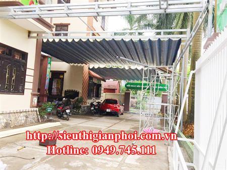 Thi công bạt mái xếp di động ở Uông Bí