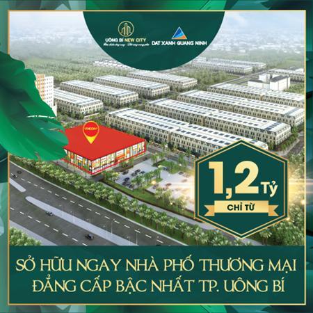 Từ 1,2 tỷ sở hữu nhà phố thương mại cạnh Vincom Uông Bí