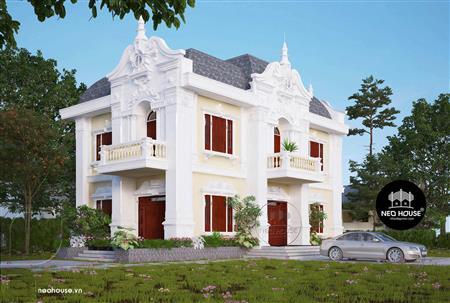 Mẫu biệt thự đẹp 2 tầng cổ điển độc đáo tại Tây Ninh