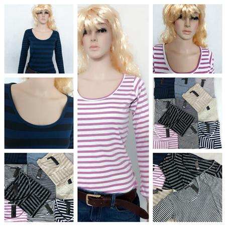 Áo thun dài tay Zara sọc,phom dài bán với giá sỉ cực rẻ 45k
