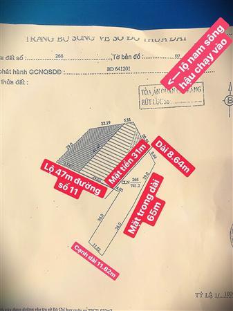 Bán đất mặt tiền lớn (31km) khu nam long, tặng dãy trọ 6 phòng
