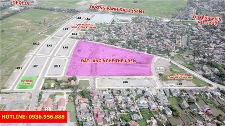 Bán đất nền dự án khu đô thị thanh hà hà nam đã có sổ đỏ - lh: 0936.956.888