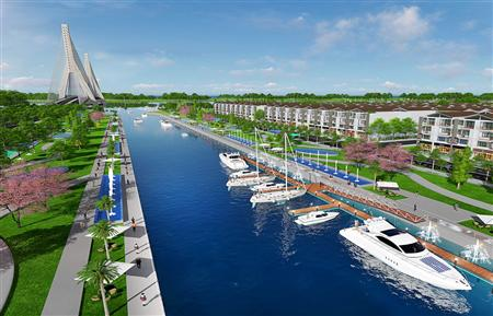 Nhà phố, biệt thự view 3 mặt sông đối diện quận 9, giá 20tr/m2, mt đường vành đai 3
