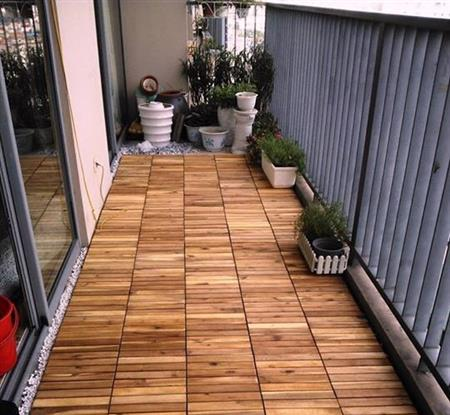 Tấm gổ vỉ nhựa lót sàn ban công, sân vườn, nhà vệ sinh (1m2)