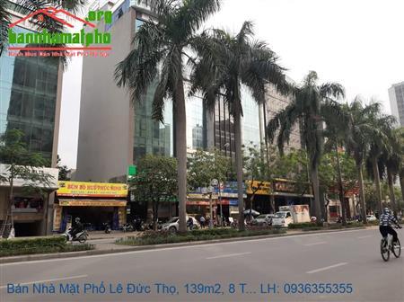Bán Nhà Mặt Phố Lê Đức Thọ, 139m2, 8 Tầng, 3 Mặt Đường, Giá