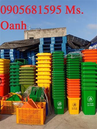 Thùng rác nhựa công nghiệp 60L giá rẻ 0905681595