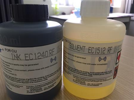 Mực, dung môi chính hãng Ec-Jet dành cho máy in phun chuyên