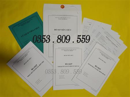 Bán hồ sơ viên chức (thông tư 07 ban hành ngày 01/6/2019)