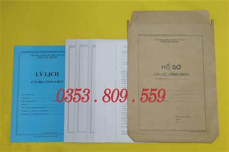 hồ sơ cán bộ công chức ban hành ngày 18/06/2007 giá rẻ nhất