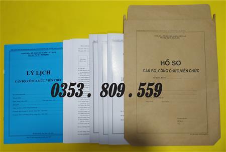 Bán hồ sơ cán bộ công chức, viên chức ngày 18/06/2007