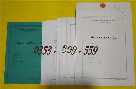 Chuyên cung cấp hồ sơ viên chức - cán bộ công chức, giá tốt