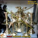 Sx đỉnh đồng hoa sòi, đỉnh thờ cúng,đồ thờ cao cấp bằng đồng