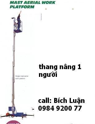 THANG NÂNG, thang nâng điện opk( Nhật) cao 7~20m,0984 920077